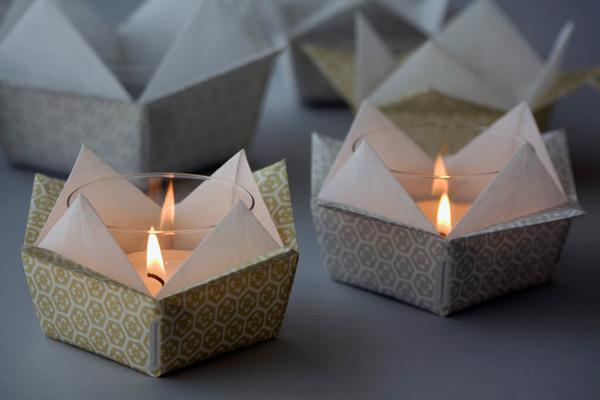Tiziana mancini carta origami e design - Portacandele da tavolo ...